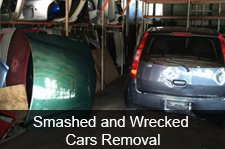 smashed and wrecked automobile removal